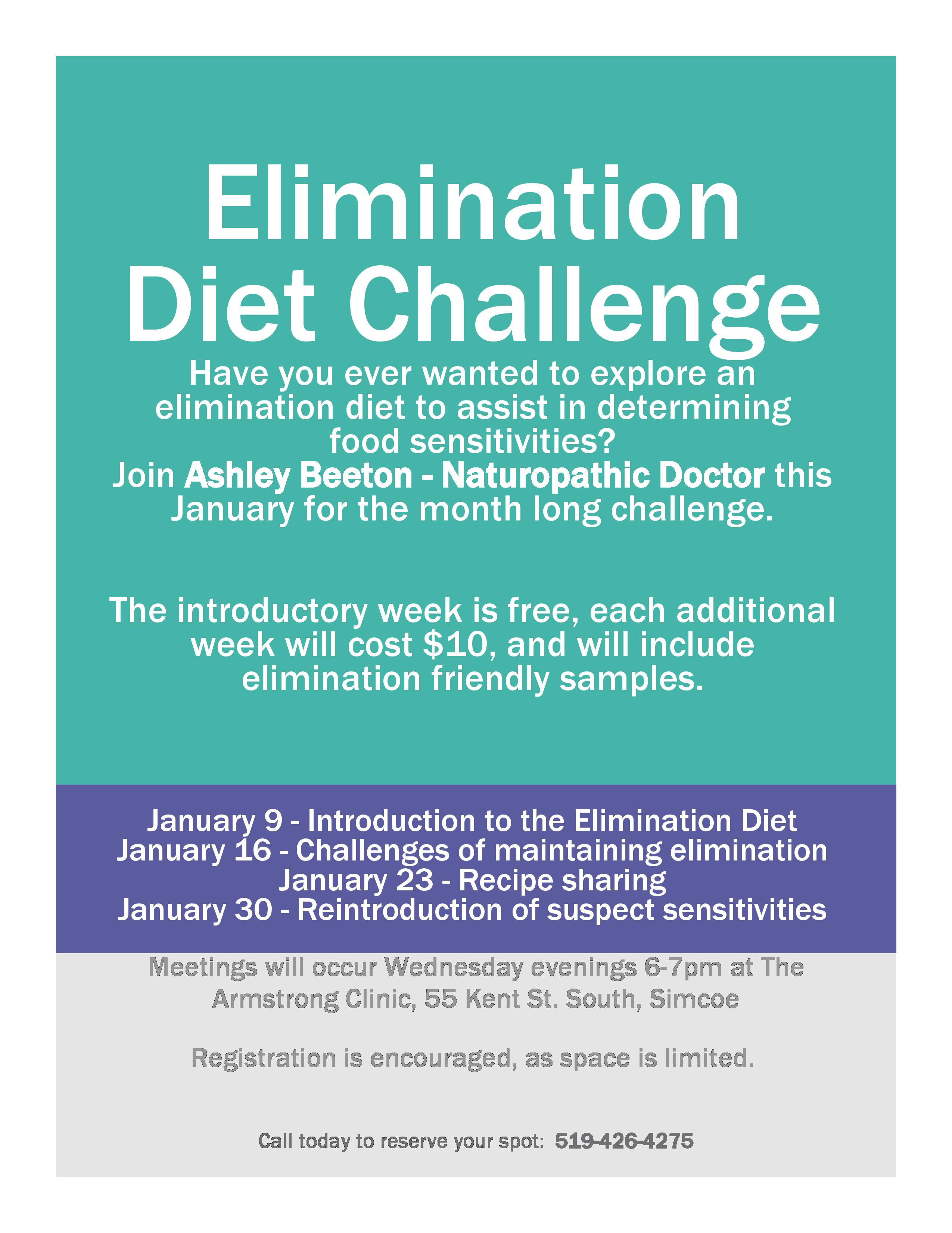 Clean Elimination Diet Food List